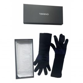 Chanel Cashmere long gloves