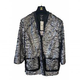 Chanel Faux fur cardi coat