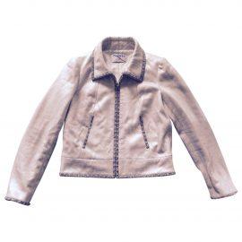 Chanel Gold Cotton Biker jacket