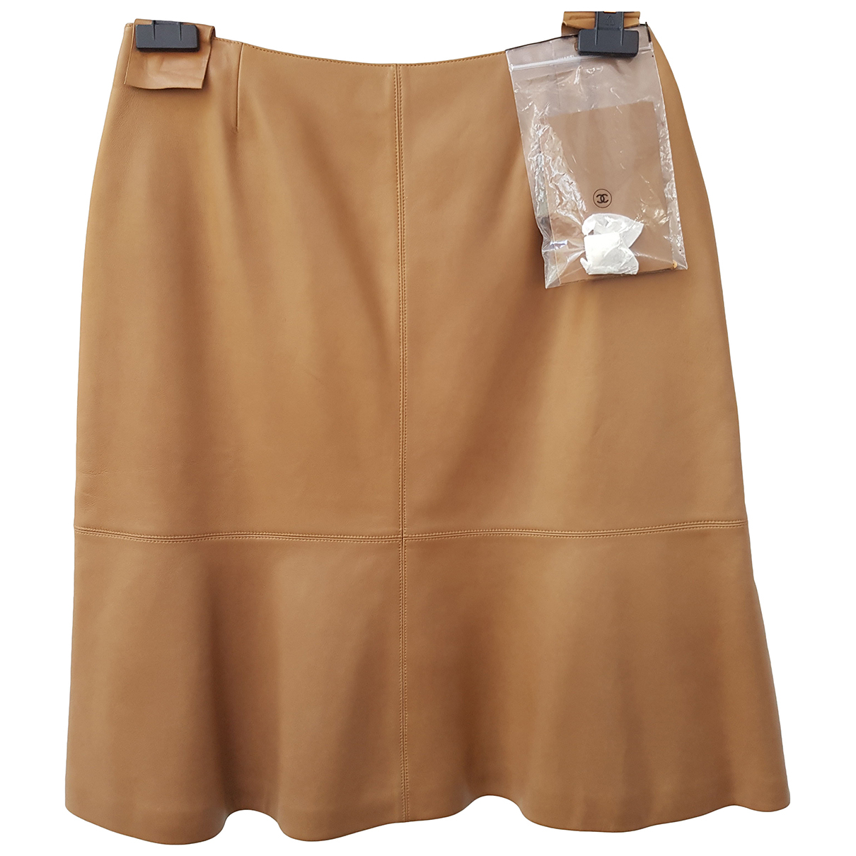Chanel N Beige Leather Skirt for Women