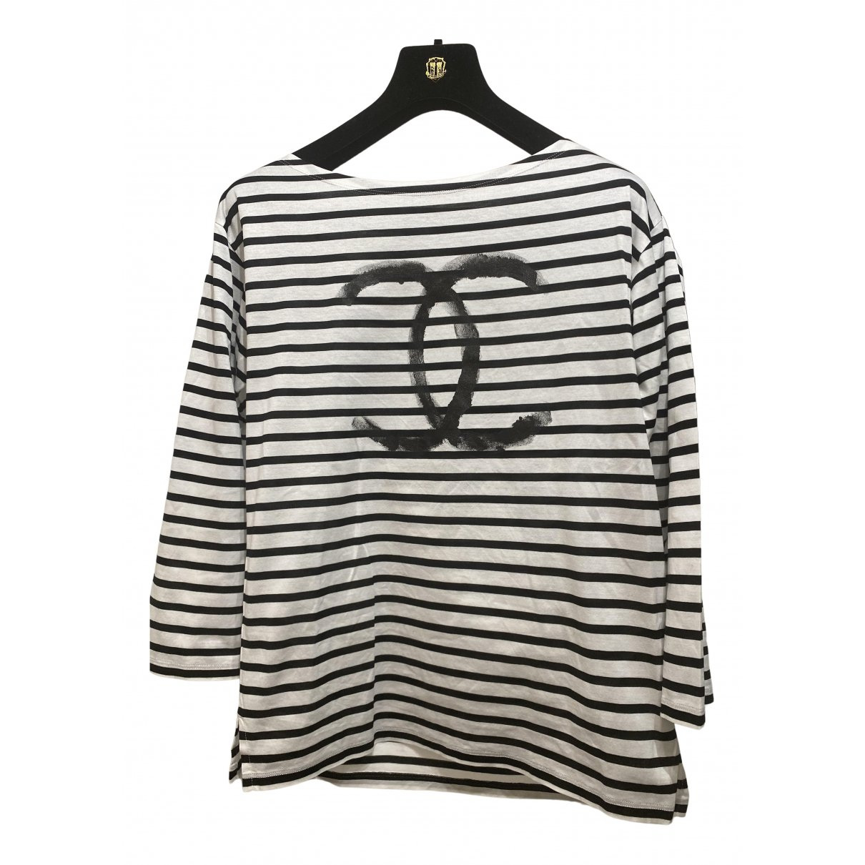 Chanel N Navy Cotton Top for Women