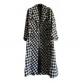 Chanel N White Tweed Coat for Women