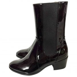 Chanel Patent leather cowboy boots