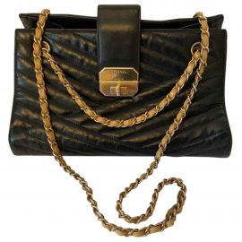 Chanel Petite Shopping Tote leather crossbody bag