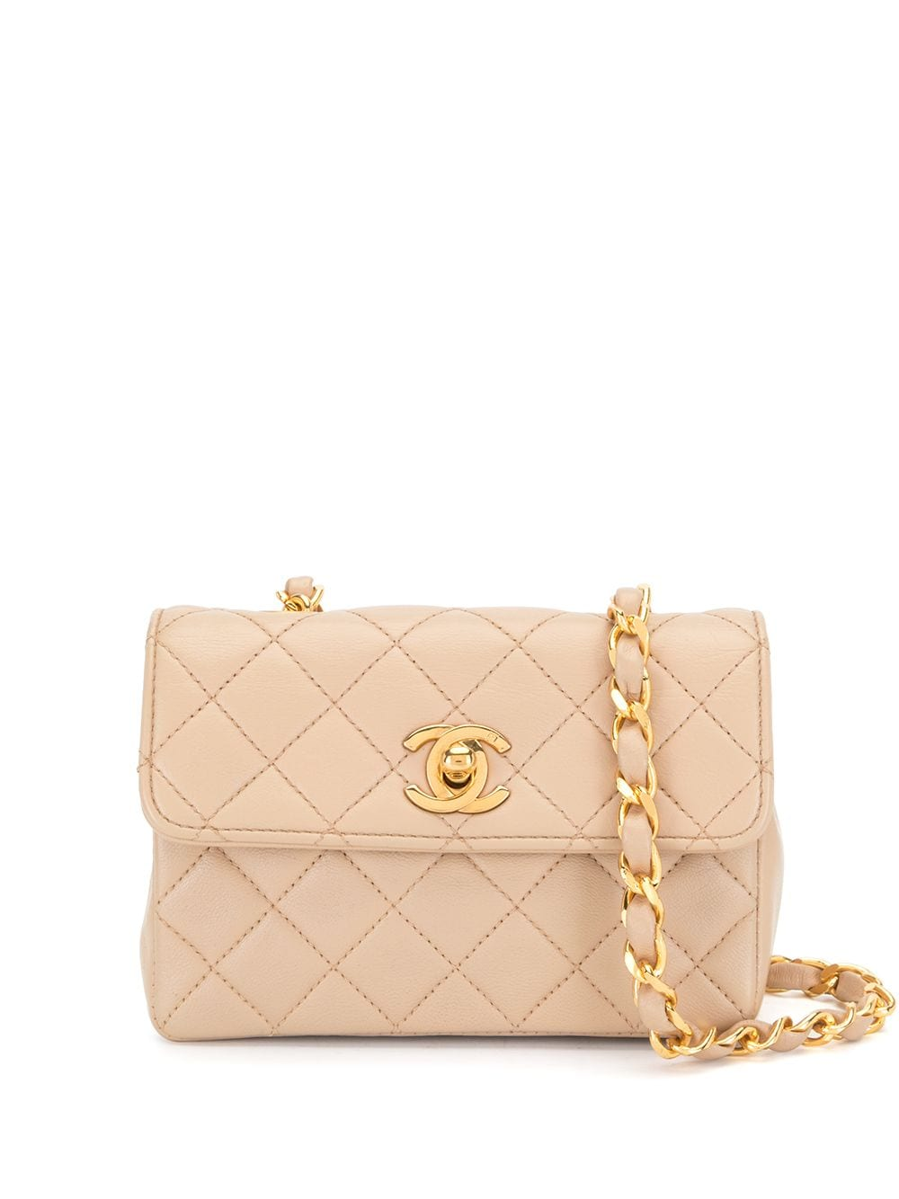 Chanel Pre-Owned 1990 diamond-quilted mini bag - Pink