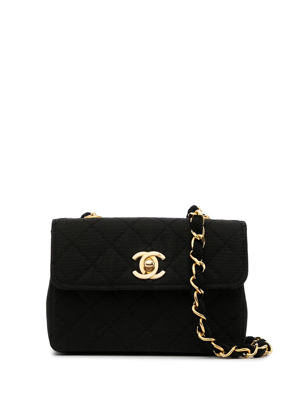 Chanel Pre-Owned 1990 mini diamond quilted crossbody bag - Black