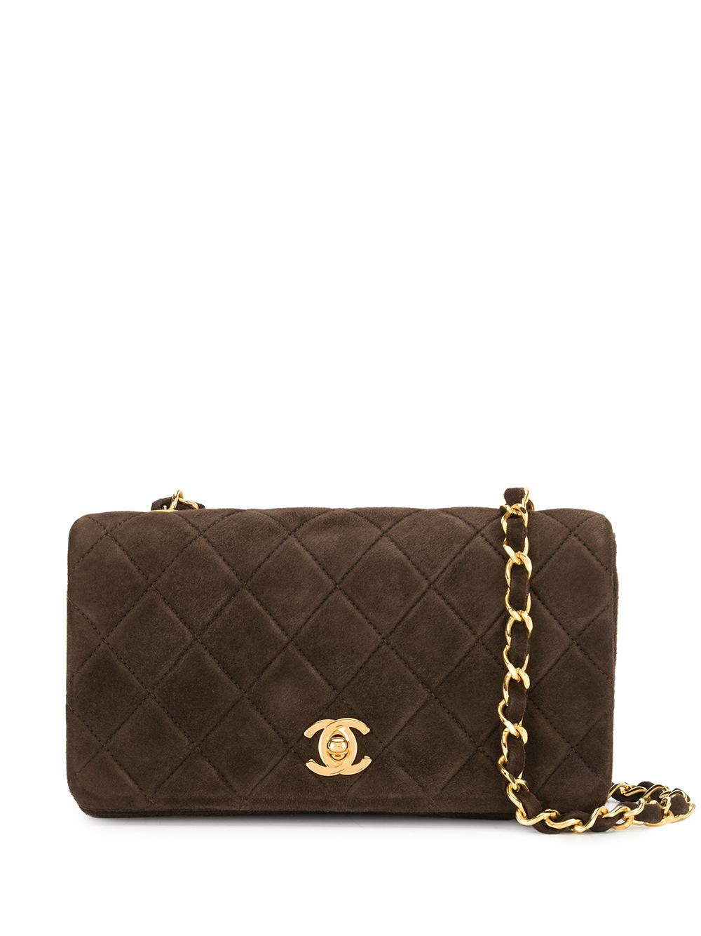 Chanel Pre-Owned 1990s diamond-quilted flap shoulder bag - Brown