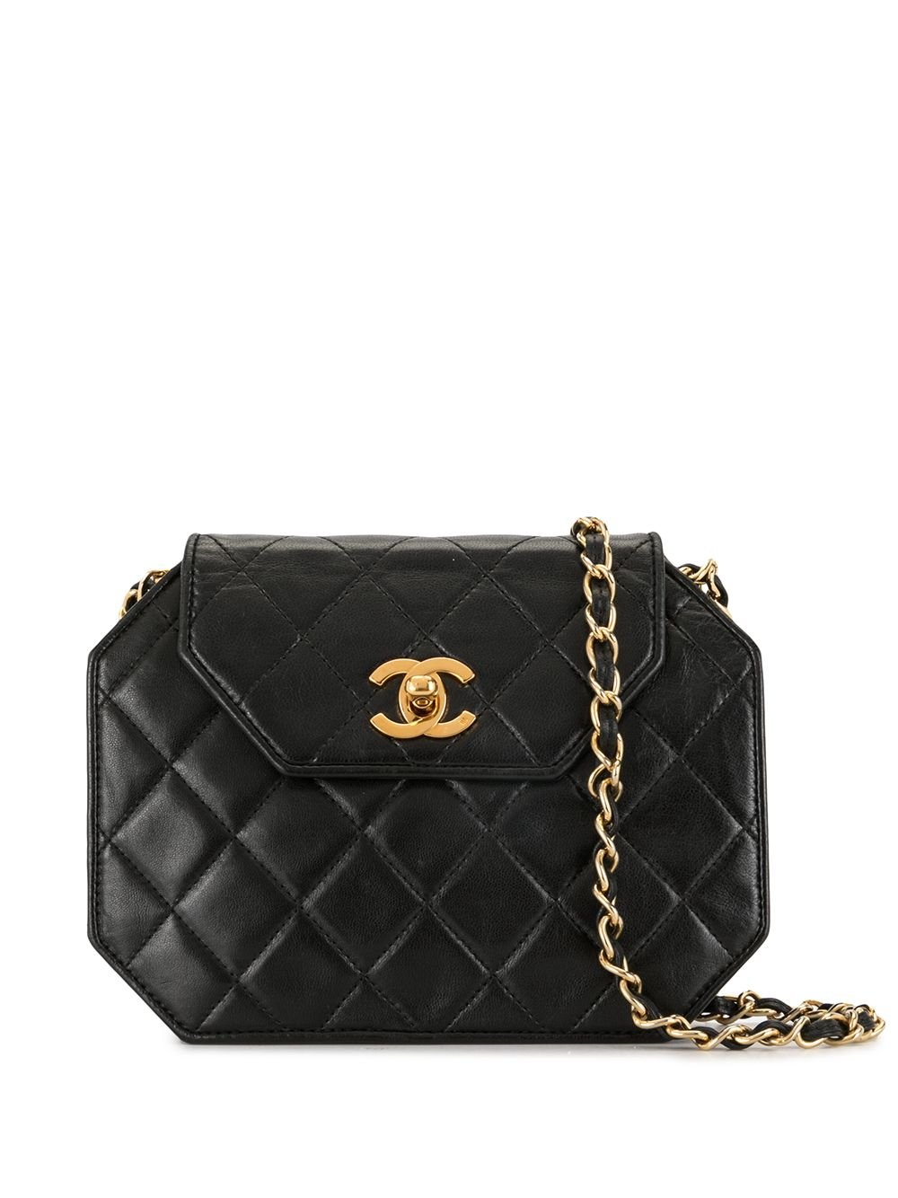 Chanel Pre-Owned 1990s diamond-quilted shoulder bag - Black