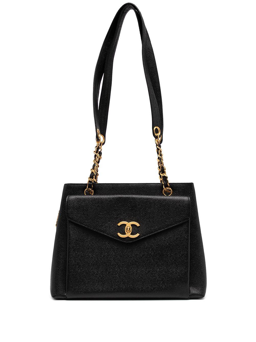 Chanel Pre-Owned 1995 CC turn-lock shoulder bag - Black