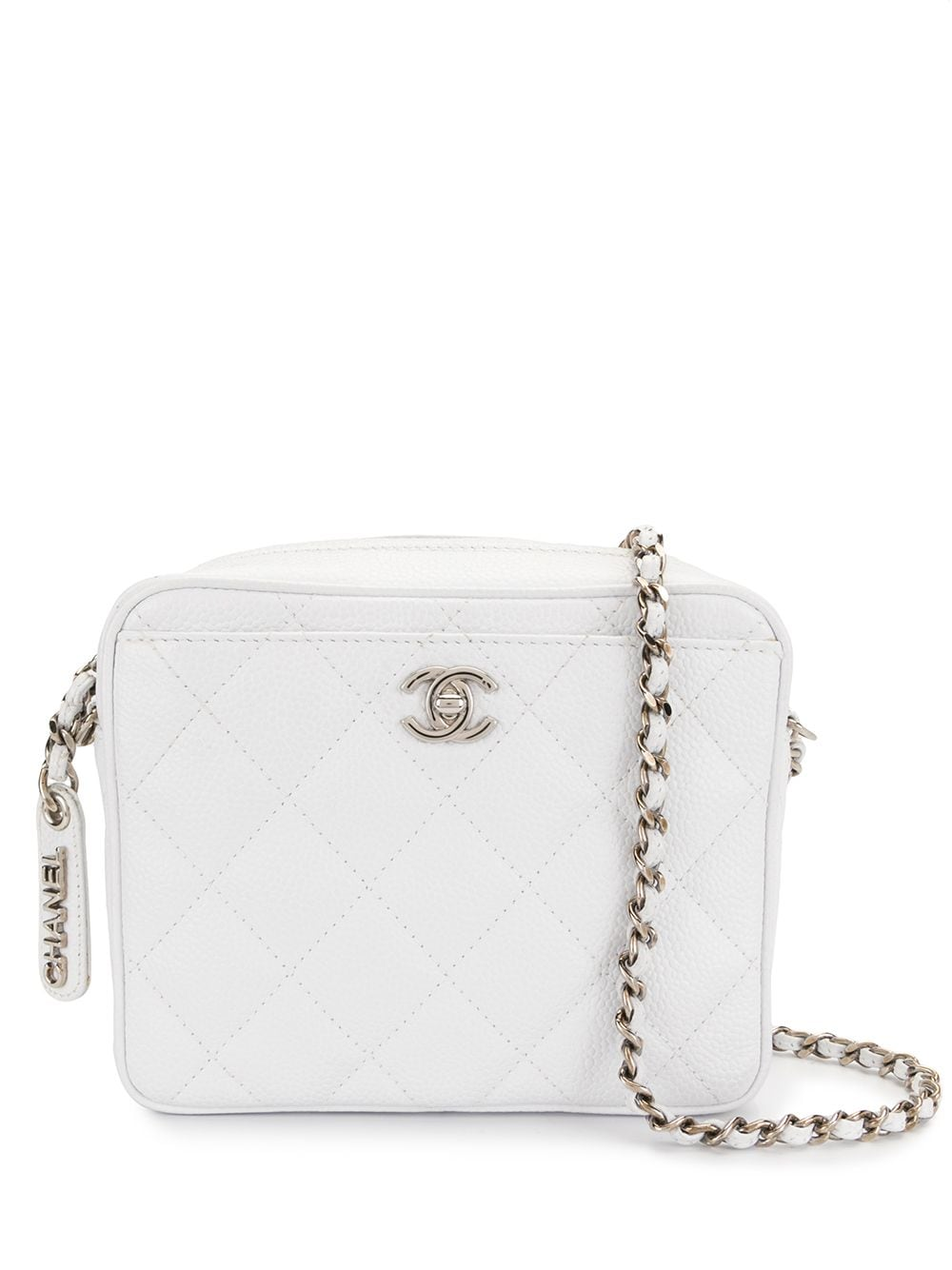Chanel Pre-Owned 1997 diamond quilted crossbody bag - White