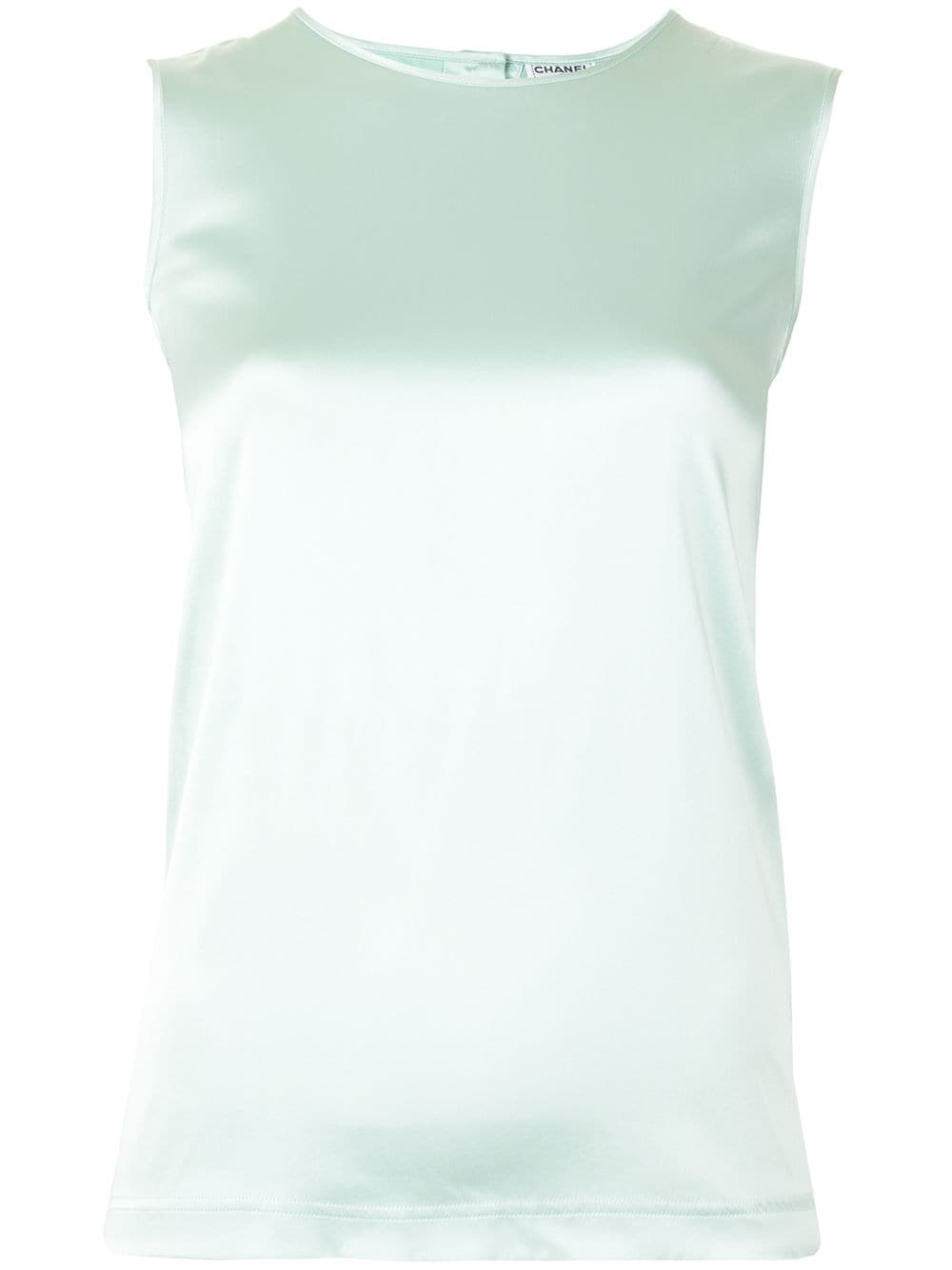 Chanel Pre-Owned 1997 round neck sleeveless blouse - Green