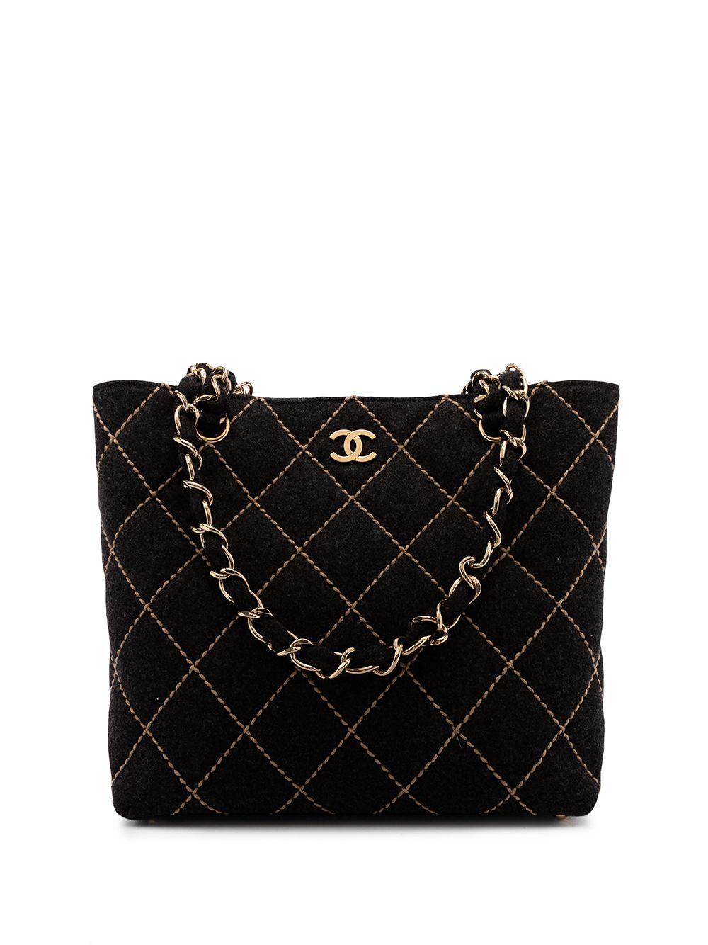 Chanel Pre-Owned 2003-2004 Wild Stitch CC tote bag - Black