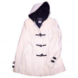 Chanel White Wool Coat