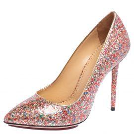 Charlotte Olympia Multicolor Glitter Monroe Pumps Size 37