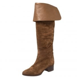 Chloe Brown Suede Over The Knee Boots Size 40