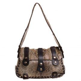 Chloe Brown/Grey Python Silverado Shoulder Bag