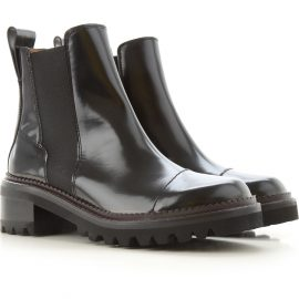 Chloe Chelsea Boots for Women, Black, Leather, 2021, 3.5 4.5 5.5 6 6.5 7.5 8.5
