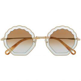 Chloé Eyewear Rosie round sunglasses - Gold
