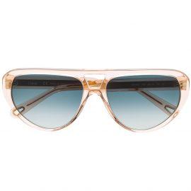 Chloé Eyewear cat-eye frame sunglasses - Neutrals