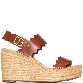 Chloé Lauren 60mm espadrille wedge sandals - Brown
