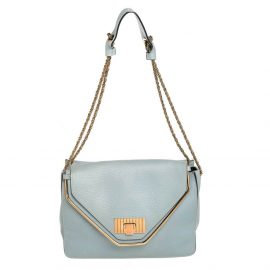 Chloé Mint Green Leather Medium Sally Flap Shoulder Bag
