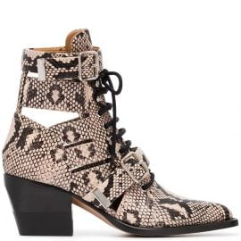 Chloé Rylee 60 Leather Ankle Boots - Neutrals