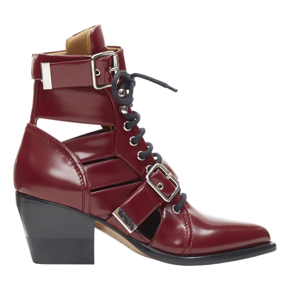 Chloé Rylee Burgundy Leather Ankle boots for Women