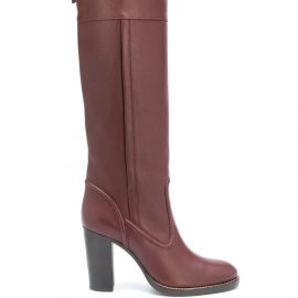 Chloé calf-length leather boots - Red