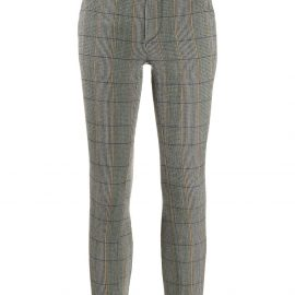 Chloé checked cropped leggings - Green