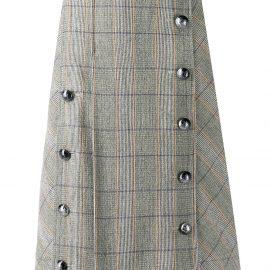 Chloé checked pleated skirt - Neutrals