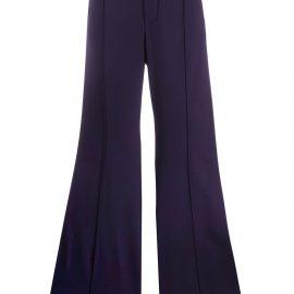 Chloé side stripe flared trousers - Blue