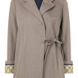 Chloé side tie blazer - Brown