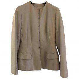 Christian Dior Leather short vest