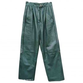 Christian Dior Leather straight pants