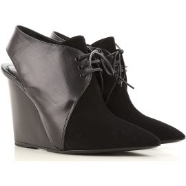 Christian Dior Wedges for Women On Sale in Outlet, Black, Leather, 2021, 2.5 4.5