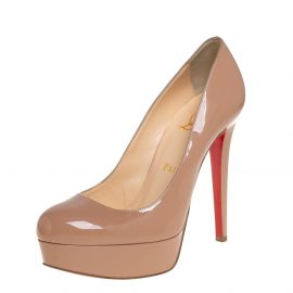 Christian Louboutin Beige Patent Leather Bianca Pumps Size 37.5