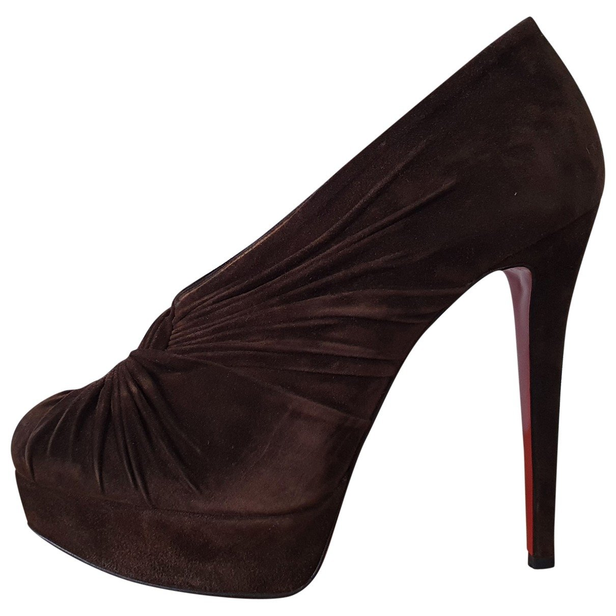 Christian Louboutin N Brown Suede Ankle boots for Women
