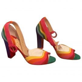 Christian Louboutin N Multicolour Suede Sandals for Women