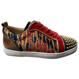 Christian Louboutin N Red Leather Trainers for Men
