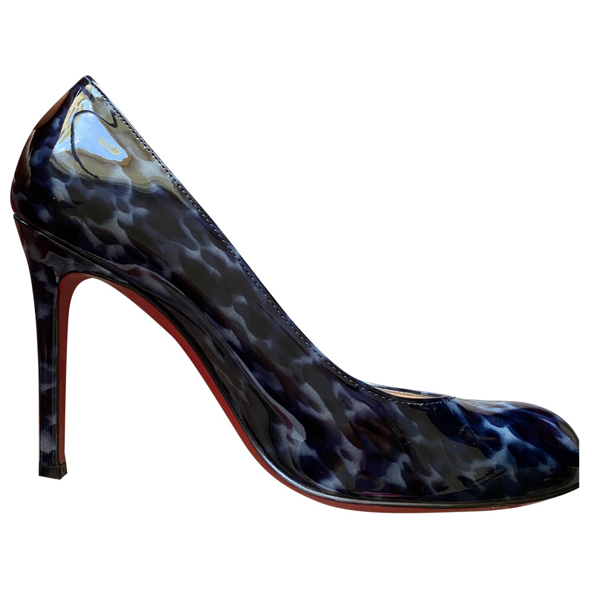 Christian Louboutin Simple pump Blue Patent leather Heels for Women