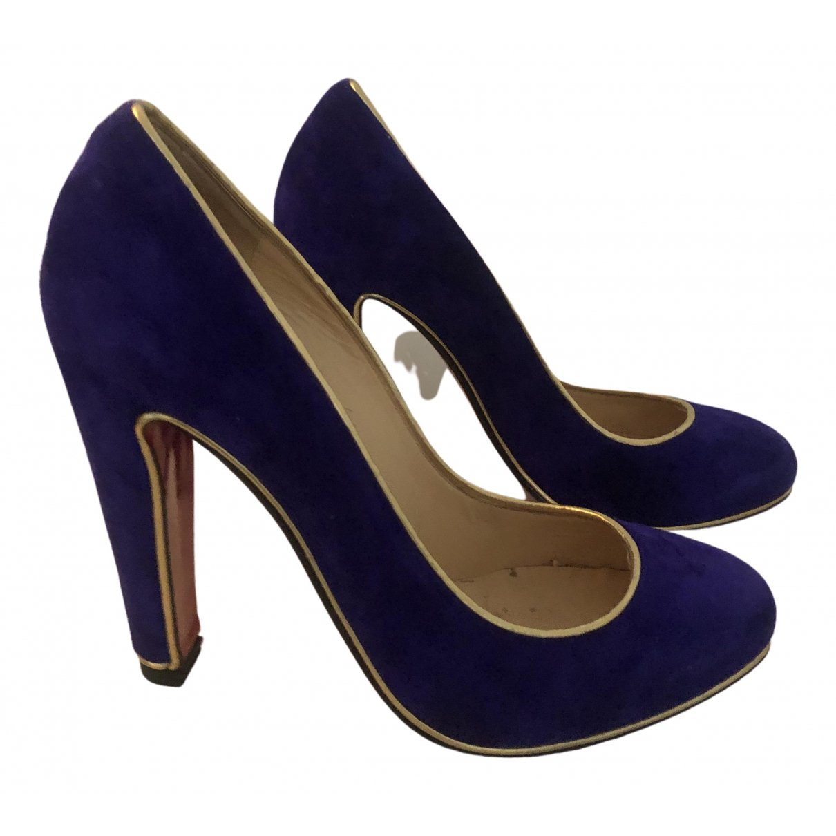 Christian Louboutin Simple pump Blue Suede Heels for Women