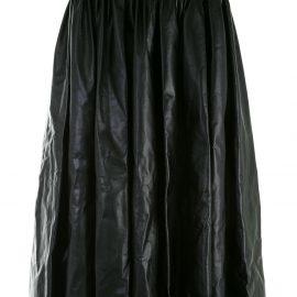 Christopher Kane pleated leather skirt - Black
