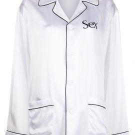 Christopher Kane pyjama-style printed suit - White