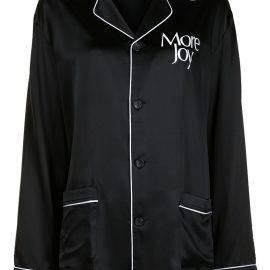 Christopher Kane pyjama-style slogan-print suit - Black