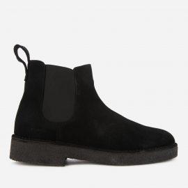 Clarks Original Men's Desert Chelsea 2 Suede Boots - Black - UK 7