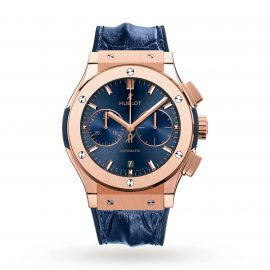 Classic Fusion Blue Chronograph King Gold 45mm
