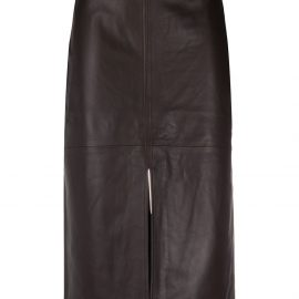 Co leather pencil skirt - Brown