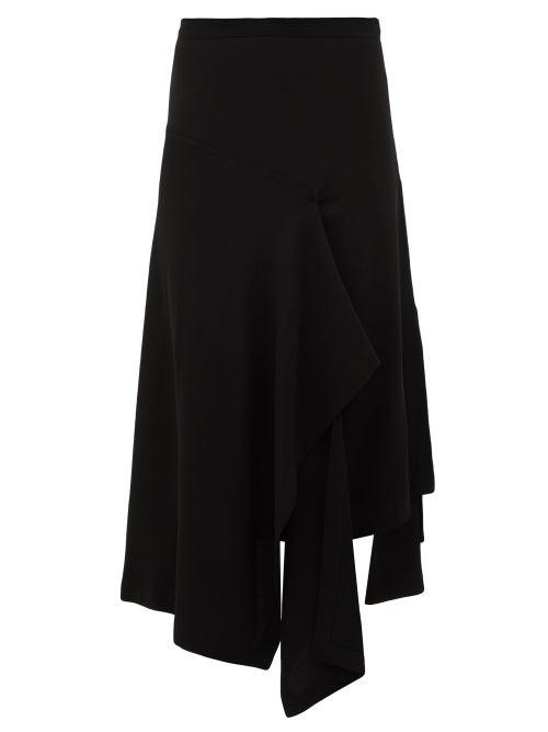 Colville - Draped Crepe Skirt - Womens - Black