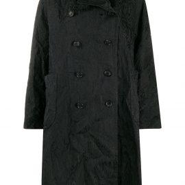 Comme Des Garçons Comme Des Garçons textured double-breasted coat - Black