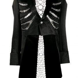 Comme Des Garçons Noir Kei Ninomiya cropped riding jacket - Black